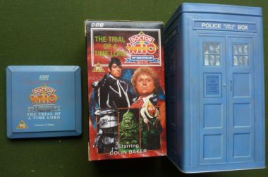 Doctor Who 30th Anniversary 1963 93 The Trial Of A Timelord Limited Edition TARDIS Boxed Set 3 VHS Tapes