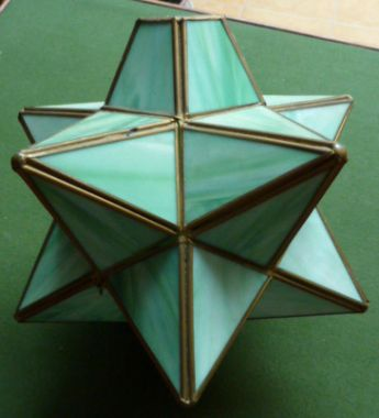 Priory antiques green star shaped glass ceiling lamp shade green star shaped glass ceiling lamp shade mozeypictures Gallery